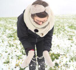 Schnee im April beim Moderieren
